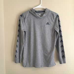 Adidas Long Sleeve Hooded Shirt